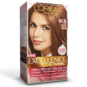 Hair Color, Light Chestnut Brown , L'Oreal Excellence Creme Hair Color ...