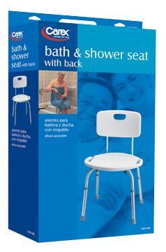 Adjustable Bath/Shower Seat with Back (Carex), Adjustable Bath ...