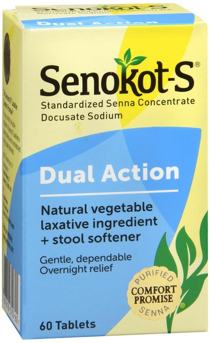 Senokot S Laxative And Stool Softener 60 Tablets Senokot