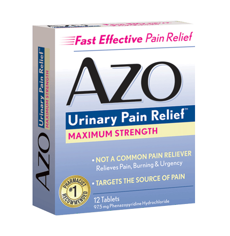 The benefits of AZO Urinary Pain Relief ® and AZO Urinary Pain Relief ® Maximum Strength may be experienced as soon as 20 minutes and within 1 hour, the time in which phenazopyridine hydrochloride reaches the bladder as indicated by a change in urine color. 4.
