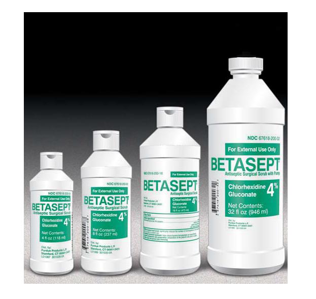First Aid Antiseptic Chlorhexidine Gluconate 4 Scrub Liquid Betasept 8 16 32 Oz