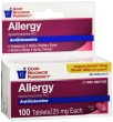 Compare to Benadryl Allergy Relief Diphenhydramine Tablets