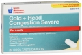 Compare to Tylenol Severe Cold+ Head Congestion Relief Caplets