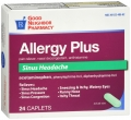 Compare to Benadryl Allergy Plus Sinus Headache Relief Caplets