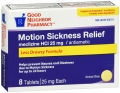 Compare to Dramamine Less Drowsy Formula Motion Sickness Relief Tablets