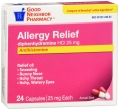 Compare to Benadryl Allergy Relief Diphenhydramine Capsules