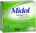 Midol Caffeine free Caplets, 24 count