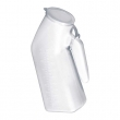 Male urinal with cap, 32 oz