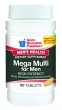 Men's Health Mega Multi for Men, High Potency Daily Multivitamin and Multiminera