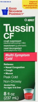 Compare to Robitussin Tussin CF Cough and Cold Liquid