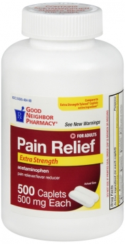 Extra Strength Pain Relief 500mg Caplets Compare to Tylenol