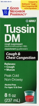 Compare to Robitussin DM Cough Suppressant and Expectorant Syrup