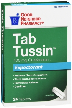 Guaifenesin 400mg Cough Relief Tablets