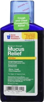 Compare to Mucinex Maximum Strength Mucus Relief Liquid