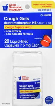 Compare to Robitussin Cough Suppressant Liquid-filled Capsules
