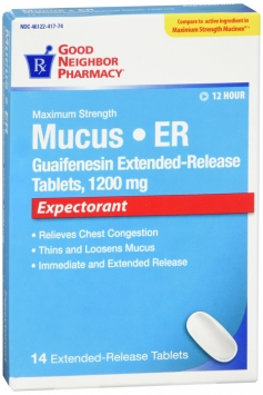 Compare to Mucinex Maximum Strength Mucus Relief Tablets