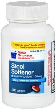 Stool Softener Docusate 100mg capsules