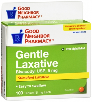 Compare to Dulcolax Laxative Tablets