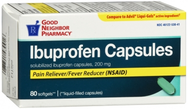 Compare to Advil Pain Reliever/Fever Reducer Ibuprofen Liquid Filled Capsules