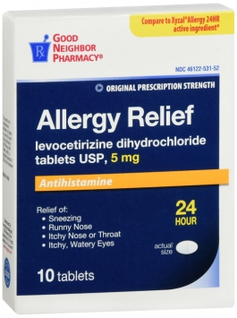 Compare to Xyzal Allergy Relief Levocetirizine Tablets