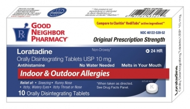 Compare to Claritin Allergy Relief Loratadine 10mg Orally Disintegrating Tablets