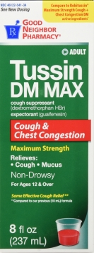 Compare to Robitussin Maximum Cough and Chest Congestion Liquid