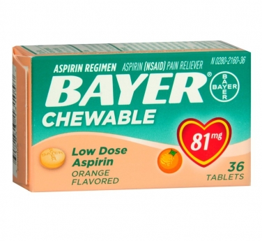 Bayer Low Dose Aspirin Pain Reliever 81 mg