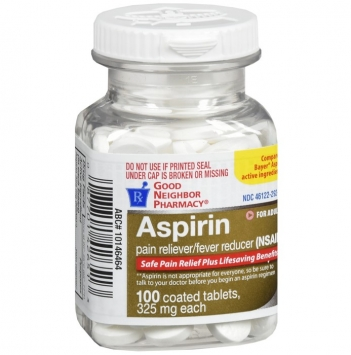 Aspirin Pain Reliever/Fever Reducer Coated Tablets