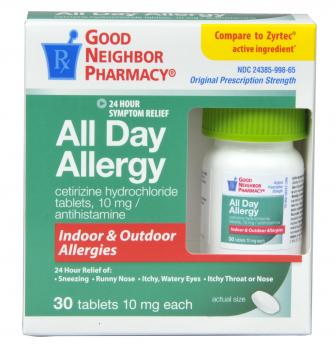Compare to Zyrtec All Day Allergy Relief Tablets