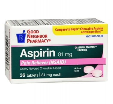Pain Reliever Aspirin Tablets