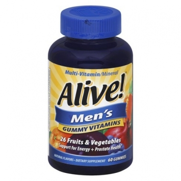 Alive! Men's Multivitamin Gummy Supplement