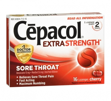 Cepacol Extra Strength, Sore Throat Lozenges, Cherry, 16 count