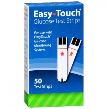 Easy Touch Glucose Test Strips, 50 count
