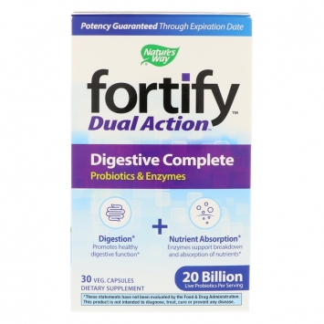 Fortify Dual Action Digestive Complete Probiotic Supplement