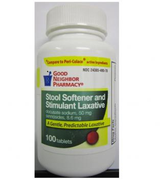 Stool Softener and Stimulant Laxative