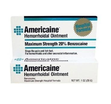 Hemorrhoidal Ointment, 20% Benzocaine (Americaine), 1 oz