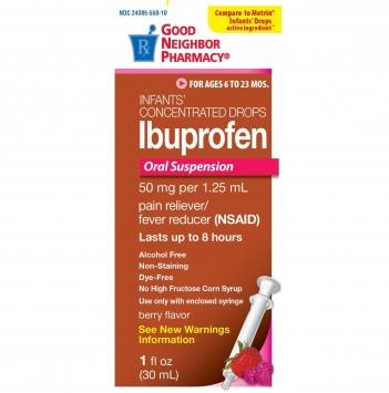 Infants' Concentrated Fever Reducer/Pain Relief Drops