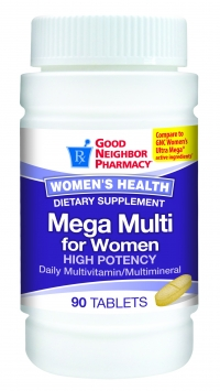 Mega Multi for Women, High Potency Diily Multivitamin and Multimineral