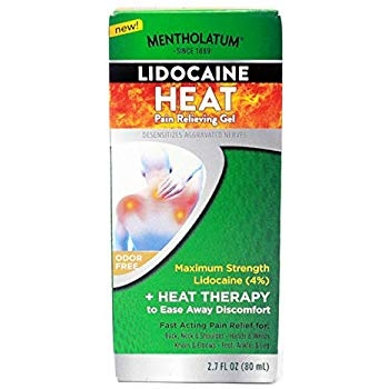 Mentholatum Lidocaine Heat Pain Relieving Gel