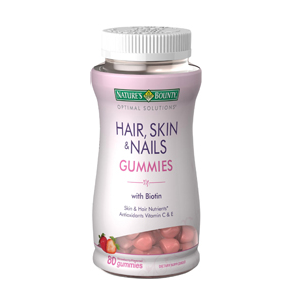 Optimal Solutions Hair, Skin and Nails Supplement Gummies ...