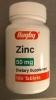 Zinc 50mg Supplement Tablets
