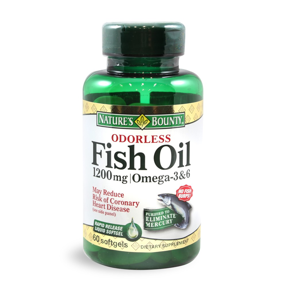 Odorless omega 3 and 6 fish oil 1 200mg supplement for Odorless fish oil